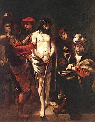 Maes Nicolaes Christ Before Pilate Art Print
