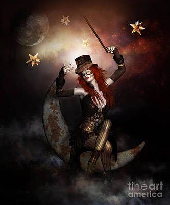 Old-fashioned Digital Art - Maestro Steampunk by Shanina Conway