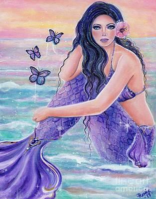 Painting - Maeva Mermaid by Renee Lavoie