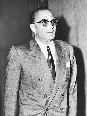 Photograph - Mafia Boss Vito Genevese 1958 by Library Of Congress