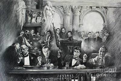 Sopranos Mixed Media - Mafia by Mafia