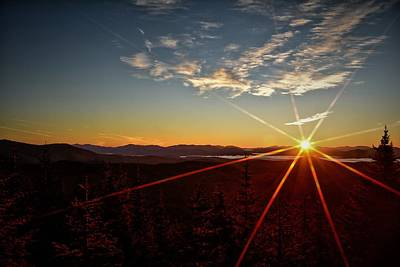 Photograph - Magalloway Mountain Sunrise by Naturally NH