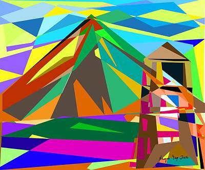 Mayon Volcano Digital Art - Magayon  by Nayco Yap