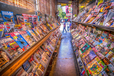Photograph - Pike Place Magazine Shop by Spencer McDonald