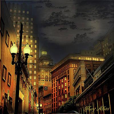Lamp Post Mixed Media - Magazine Street by Mary Albert
