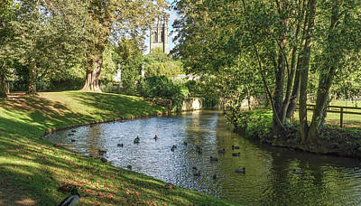 Art Print featuring the photograph Magdalen From The River Cherwell by Joe Winkler