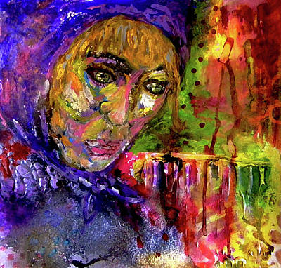 Art Print featuring the mixed media Magdalena by Lisa McKinney