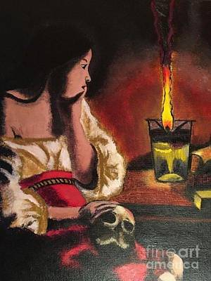 Old Testament Trinity Painting - Magdalene With The Smoking Flame by Amanda Tow