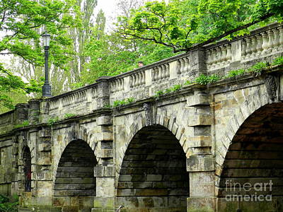 Magdalen's Ancient Bridge Art Print
