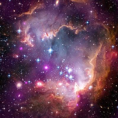 Photograph - Magellanic Galaxy by New York Prints