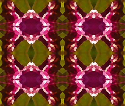 Digital Art - Magenta Crystals Pattern 2 by Amy Vangsgard