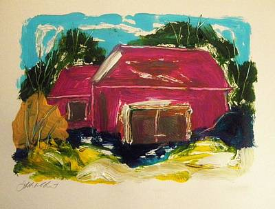 Painting - Magenta Farm by John Williams