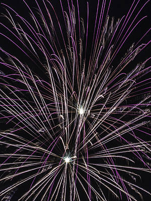 Photograph - Magenta Feathers Of Fireworks by Paula Porterfield-Izzo