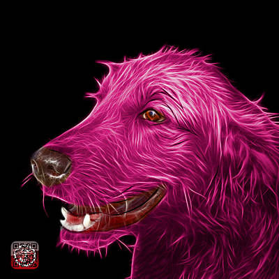 Painting - Magenta Golden Retriever Dog Art- 5421 - Bb by James Ahn