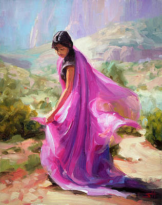 Utah Wall Art - Painting - Magenta In Zion by Steve Henderson