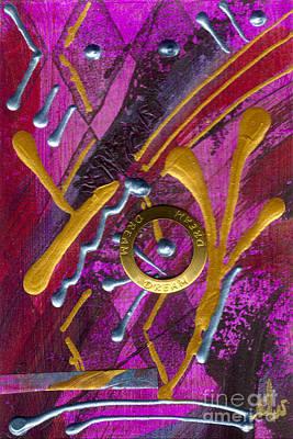 Mixed Media - Magenta Joy Dreams by Angela L Walker