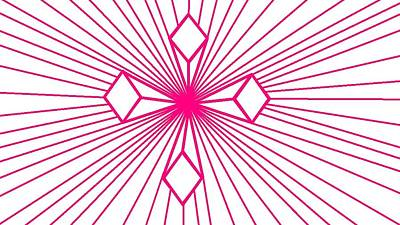 Digital Art - 'magenta Lines 1' by Linda Velasquez
