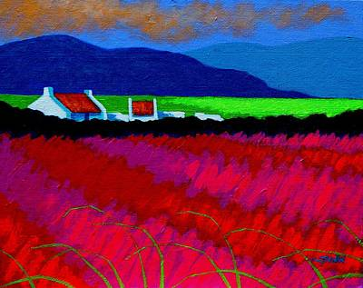 Cottage Ireland Painting - Magenta Meadow by John  Nolan