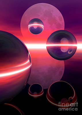 Digital Art - Magenta Moon by Sandra Bauser Digital Art