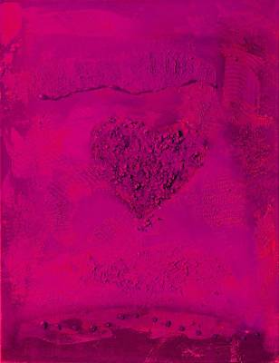 Painting - Magenta Paper Heart - Variation by Alexandra Schumann