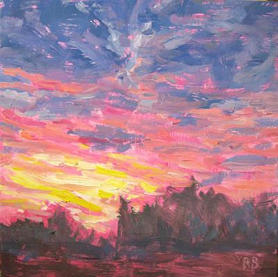 Magenta Sky Art Print by Robie Benve
