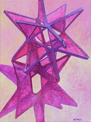 Painting - Magenta Star by Nancy Roberts