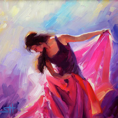 Fabric Painting - Magenta by Steve Henderson