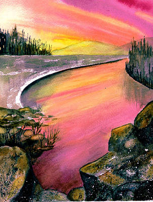Painting - Magenta Sunset by Brenda Owen