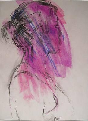 Magenta Art Print by Tina Siddiqui