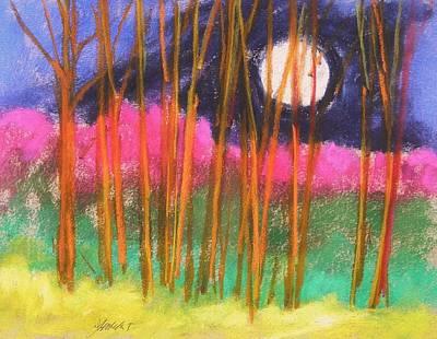 Magenta Treeline Original by John Williams