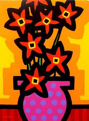 Magenta Vase Art Print