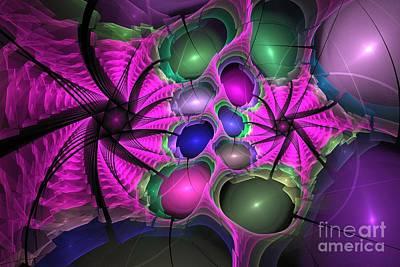 Digital Art - Magenta Wings by Kim Sy Ok