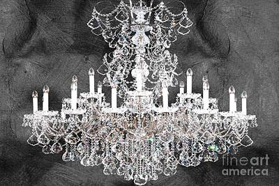 Magestic Black Chandelier Art Print