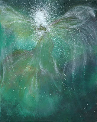 Spiritualism Painting - Magestic by Energy print by Naomi Walker