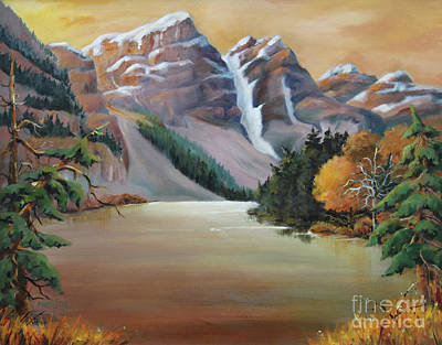 Painting - Magestic Rockies by Marta Styk