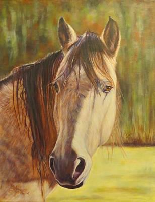 Maggie, Horse Portrait Art Print
