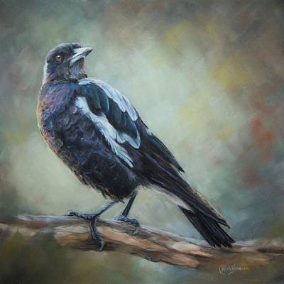 Magpies Wall Art - Pastel - Maggie by Kirsty Rebecca