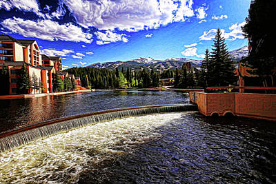 Tenmile Range Photograph - Maggie Pond In Breckenridge Painted by Judy Vincent