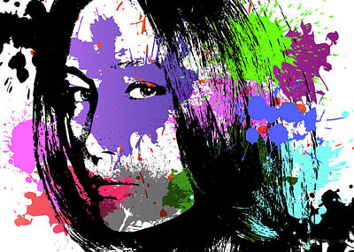 Digital Art - Maggie Q Pop Art by Ricky Barnard