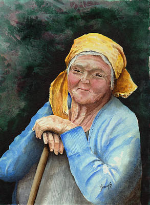 Image of: Old Man Elderly People Painting Maggie By Sam Sidders Fine Art America Elderly People Paintings Fine Art America