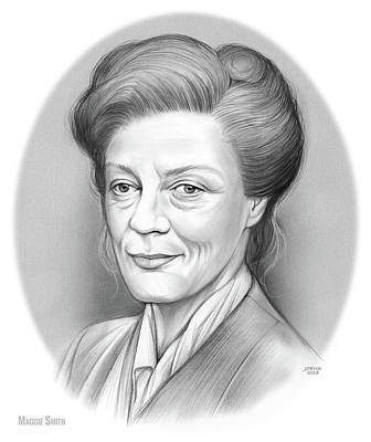 Drawings Royalty Free Images - Maggie Smith Royalty-Free Image by Greg Joens