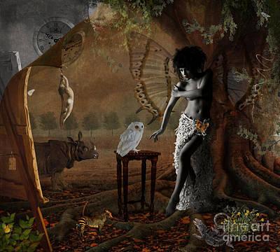 Digital Art - Maggie's World by Nola Lee Kelsey