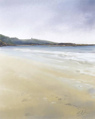 Painting - Maghery Beach Low Tide by Kevin Gallagher