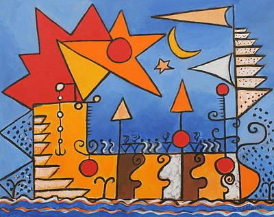 Magic Boat Art Print by Susan Rinehart