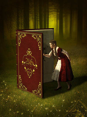 Surrealism Mixed Media Rights Managed Images - Magic Book of Tales Royalty-Free Image by Britta Glodde