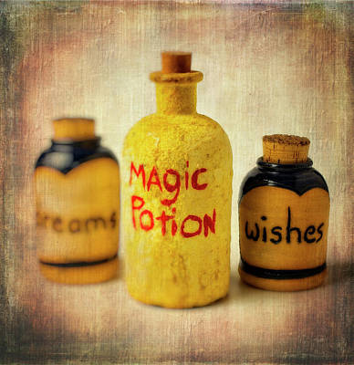 Potions Photograph - Magic Bottle by Garry Gay