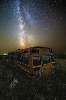 School Bus Photograph - Magic Bus by Aaron J Groen