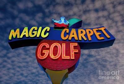 Arizona Golfer Photograph - Magic Carpet Golf by Henry Kowalski
