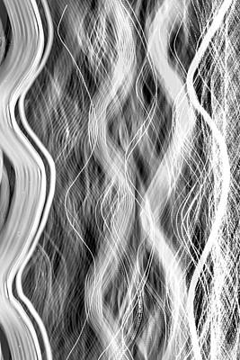 Abstract Skyline Rights Managed Images - Magic Carpet Ride BW Royalty-Free Image by Az Jackson
