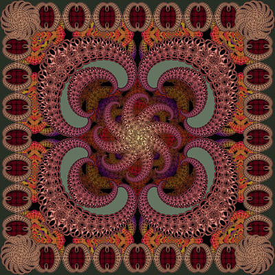 Digital Art - Magic Carpet Sage by Deborah Runham